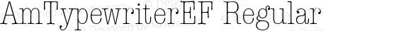AmTypewriterEF Regular Version 1.00