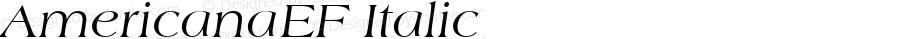 AmericanaEF Italic Version 1.00