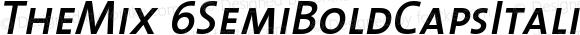 TheMix 6SemiBoldCapsItalic Version 1.0