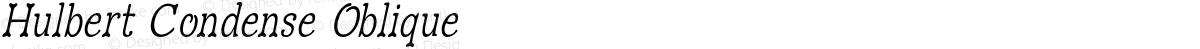 Hulbert Condense Oblique