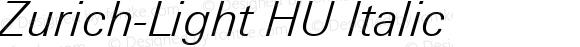 Zurich-Light HU Italic 1.000