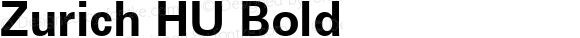 Zurich HU Bold 1.000