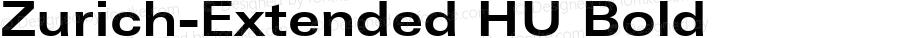 Zurich-Extended HU Bold 1.000