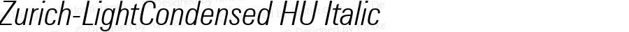 Zurich-LightCondensed HU Italic 1.000