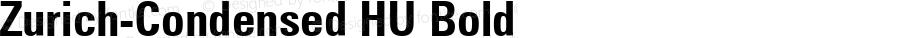 Zurich-Condensed HU Bold 1.000