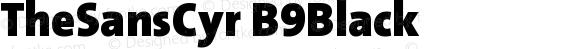 TheSansCyr B9Black Version 001.006