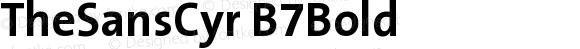 TheSansCyr B7Bold Version 001.006