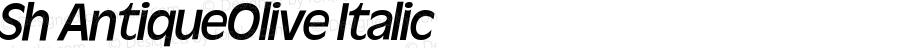 Sh AntiqueOlive Italic 001.001