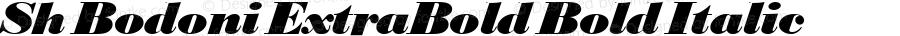 Sh Bodoni ExtraBold Bold Italic 001.001