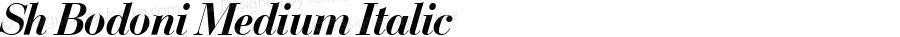 Sh Bodoni Medium Italic 001.001