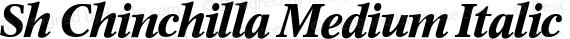 Sh Chinchilla Medium Italic preview image