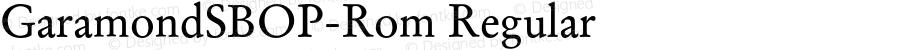GaramondSBOP-Rom Regular Version 1.000;PS 001.000;hotconv 1.0.38