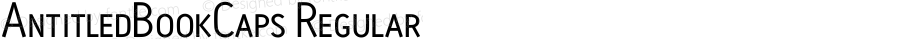 AntitledBookCaps Regular Macromedia Fontographer 4.1.4 11/5/01