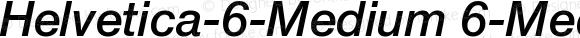 Helvetica-6-Medium 6-Medium-Italic