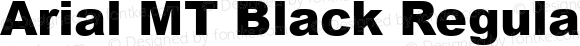 Arial MT Black Regular Version 1.2: May 1994: HP Full Unicode Set