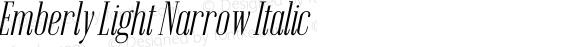 Emberly Light Narrow Italic