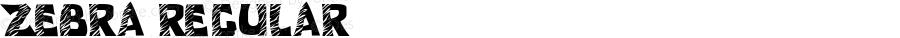 Zebra Regular Macromedia Fontographer 4.1.2 7/4/05