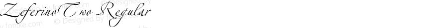 ZeferinoTwo Regular OTF 1.0;PS 001.001;Core 116;AOCW 1.0 161