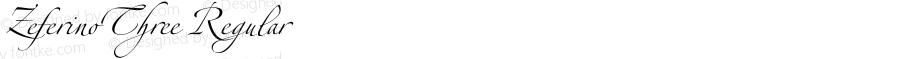 ZeferinoThree Regular OTF 1.0;PS 001.001;Core 116;AOCW 1.0 161