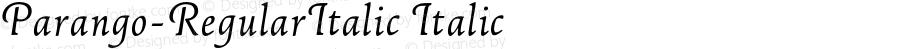 Parango-RegularItalic Italic 004.301
