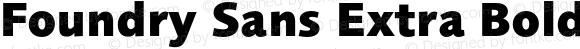 Foundry Sans Extra Bold Extra Bold