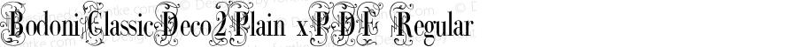 BodoniClassicDeco2Plain xPDF Regular Unknown