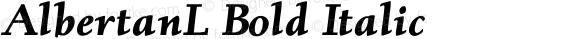 AlbertanL Bold Italic 001.000