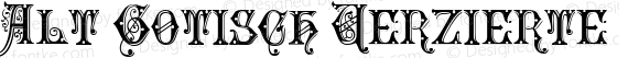 Alt Gotisch Verzierte 4.0