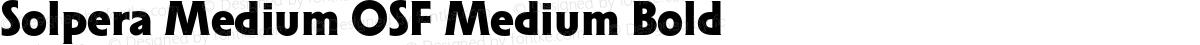 Solpera Medium OSF Medium Bold