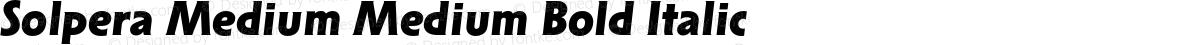 Solpera Medium Medium Bold Italic