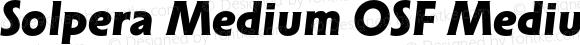 Solpera Medium OSF Medium Bold Italic
