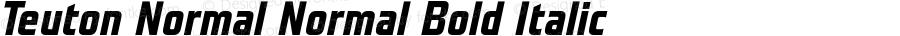 Teuton Normal Normal Bold Italic 001.000