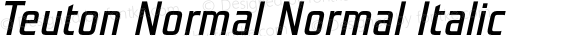 Teuton Normal Normal Italic