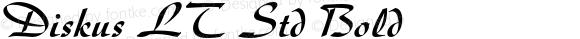 Diskus LT Std Bold OTF 1.029;PS 001.001;Core 1.0.33;makeotf.lib1.4.1585