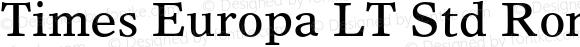 Times Europa LT Std Roman Regular OTF 1.029;PS 001.001;Core 1.0.33;makeotf.lib1.4.1585