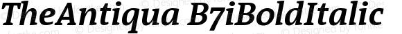 TheAntiqua B7iBoldItalic Version 001.000