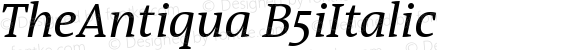 TheAntiqua B5iItalic Version 001.000