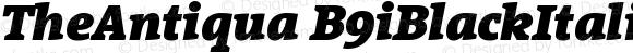 TheAntiqua B9iBlackItalic Version 001.000