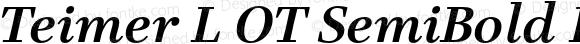 Teimer L OT SemiBold Italic