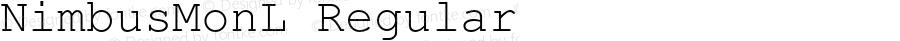 NimbusMonL Regular Version 1.000;PS 1.10;hotconv 1.0.38