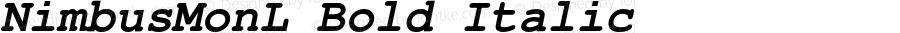 NimbusMonL Bold Italic Version 1.000;PS 1.10;hotconv 1.0.38
