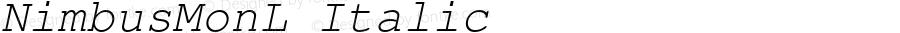 NimbusMonL Italic Version 1.000;PS 1.10;hotconv 1.0.38