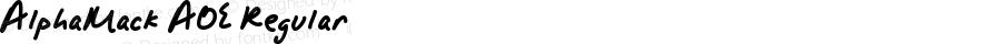 AlphaMack AOE Regular Version 001.000
