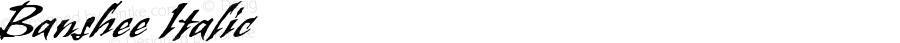 Banshee Italic OTF 1.0;PS 001.000;Core 1.0.22