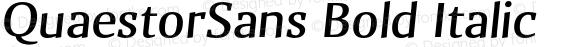 QuaestorSans Bold Italic