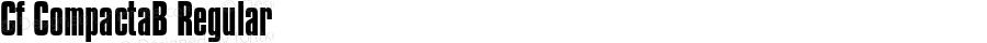 Cf CompactaB Regular Macromedia Fontographer 4.1.5 12‐03‐98