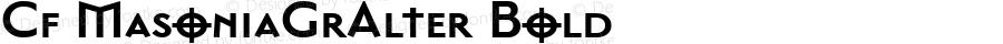 Cf MasoniaGrAlter Bold Macromedia Fontographer 4.1.5 14‐04‐99