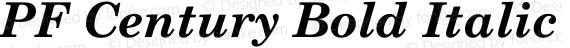 PF Century Bold Italic preview image