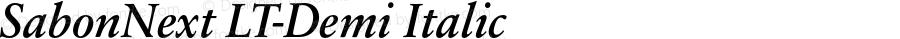 SabonNext LT-Demi Italic LT 1.0 2002; Gnu 2006