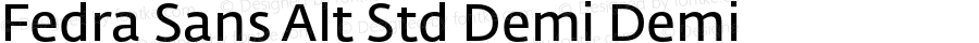Fedra Sans Alt Std Demi Demi Version 3.3; 2006